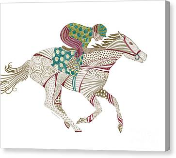 Horse Racer Canvas Print by Amy Kirkpatrick