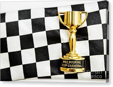 Horse Races Trophy. Melbourne Cup Win Canvas Print by Jorgo Photography - Wall Art Gallery