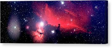 Horsehead Nebula Panorama Canvas Print by Jim DeLillo