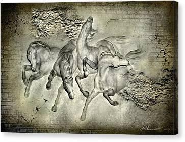 Horses Canvas Print by Svetlana Sewell