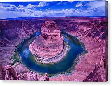 Horseshoe Bend Grand Canyon Arizona Canvas Print by Garry Gay