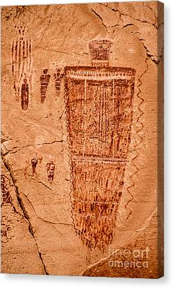 Horseshoe Canyon Great Gallery Figure 7 Pictographs Canvas Print by Gary Whitton
