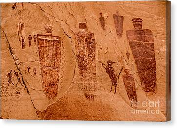 Horseshoe Canyon Great Gallery Group 2 Pictographs Canvas Print by Gary Whitton
