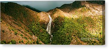Horsetail Falls In Queenstown Tasmania Canvas Print by Jorgo Photography - Wall Art Gallery