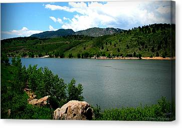 Horsetooth Reservoir Summer Canvas Print by Aaron Burrows