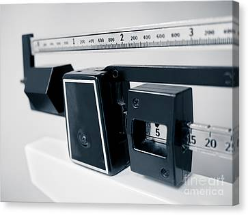 Hospital Medical Sliding Weight Beam Scale Canvas Print by Paul Velgos