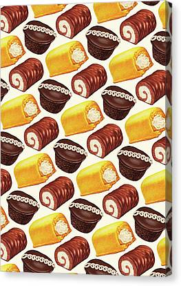 Hostess Cakes Pattern Canvas Print by Kelly Gilleran