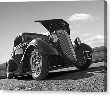 Hot '34 In Black And White Canvas Print by Gill Billington