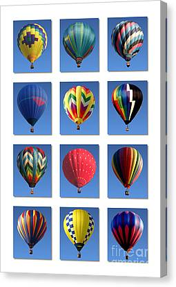 Hot Air Balloon Poster Canvas Print by Olivier Le Queinec