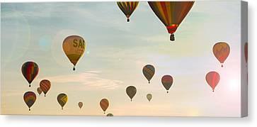 Hot Air Balloon Sunrise  Canvas Print by Brian Caldwell