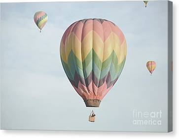 Hot Air Balloon Whimsical Sky Canvas Print by Andrea Hazel Ihlefeld