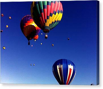 Hot Air Balloons Canvas Print by Jera Sky