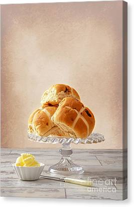 Hot Cross Buns With Butter Canvas Print by Amanda And Christopher Elwell