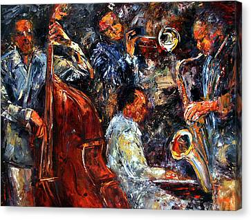 Hot Jazz Three Canvas Print by Debra Hurd