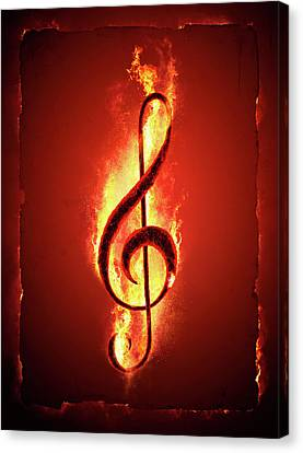 Hot Music Canvas Print by Johan Swanepoel