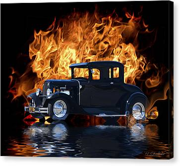 Hot Rod Canvas Print by Patricia Stalter