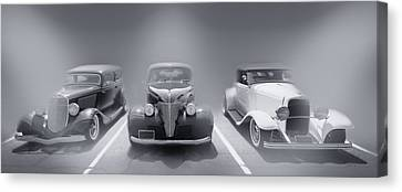 Hot Rod Power Black And White Poster Canvas Print by Dapixara Art