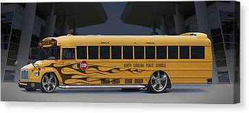 Hot Rod School Bus Canvas Print by Mike McGlothlen