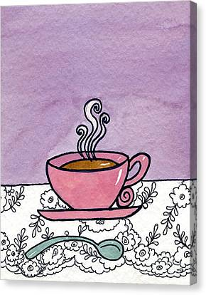 Hot Tea Canvas Print by Norma Appleton