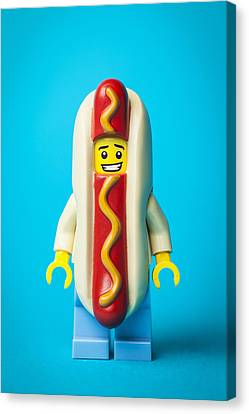 Hotdog Dude Canvas Print by Samuel Whitton