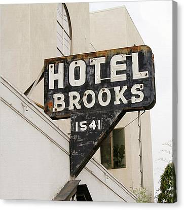Hotel Brooks Canvas Print by Art Block Collections