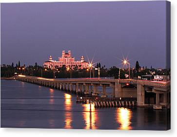 Hotel Don Cesar The Pink Palace St Petes Beach Florida Canvas Print by Mal Bray