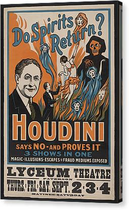 Houdin_ Do Spirits Return? Canvas Print by David Wagner