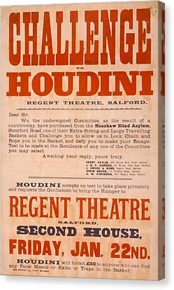 Houdini Challenge Canvas Print by David Wagner
