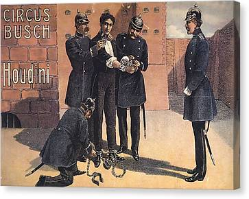 Houdini Circus Busch Canvas Print by David Wagner