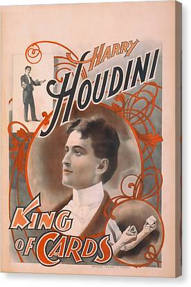 Houdini King Of Cards Canvas Print by David Wagner