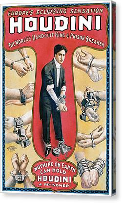Houdini The Worlds Handcuff King Canvas Print by Unknown