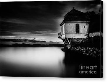 House By The Sea Canvas Print by Erik Brede