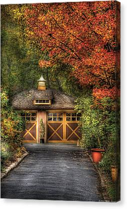House - Classy Garage Canvas Print by Mike Savad