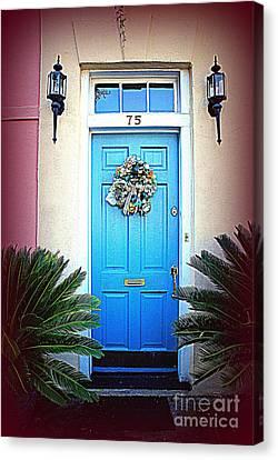 House Door 6 In Charleston Sc  Canvas Print by Susanne Van Hulst