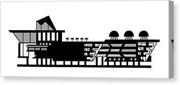 House Logo Canvas Print by Asbjorn Lonvig