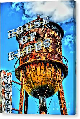 House Of Blues Orlando Canvas Print by Corky Willis Atlanta Photography
