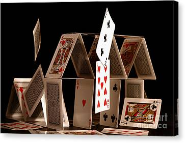 House Of Cards Canvas Print by Jan Piller