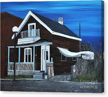 House On Hadley Street Canvas Print by Reb Frost