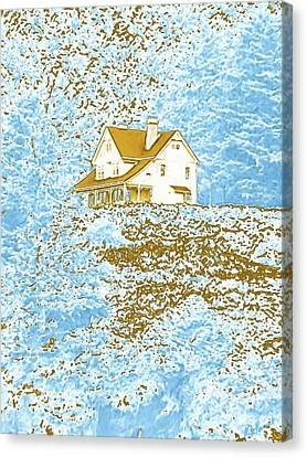 House On The Hill Canvas Print by Methune Hively