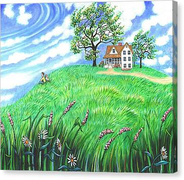 House With A View Canvas Print by Linda Mears