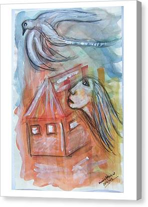 House Without A Door - Haus Ohne Tuer Canvas Print by Mimulux patricia no