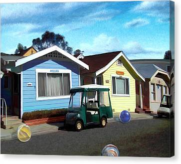 Houses In A Row Canvas Print by Snake Jagger
