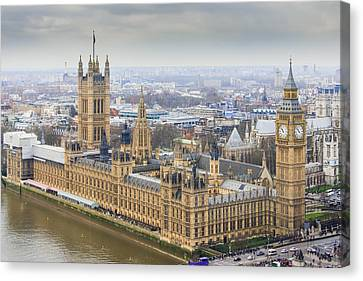 Houses Of Parliament As Seen From The London Eye Canvas Print by AMB Fine Art Photography