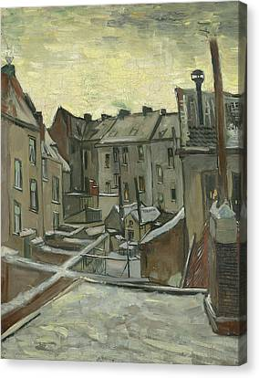 Houses Seen From The Back Canvas Print by Vincent van Gogh