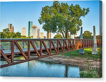 Houston Police Memorial Bridge Canvas Print by Tod and Cynthia Grubbs