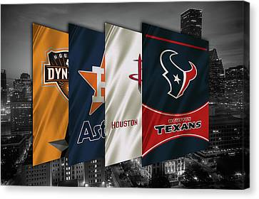 Houston Sports Teams 2 Canvas Print by Joe Hamilton