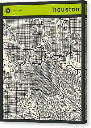 Houston Street Map Canvas Print by Jazzberry Blue
