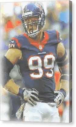 Houston Texans Jj Watt 2 Canvas Print by Joe Hamilton