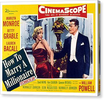 How To Marry A Millionaire, Marilyn Canvas Print by Everett