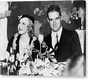 Howard Hughes Dated And Was Engaged Canvas Print by Everett